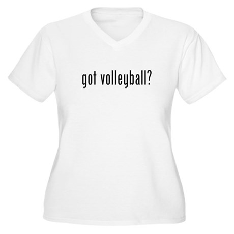 got volleyball Women's Plus Size V-Neck T-Shirt