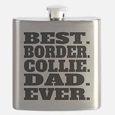Best Border Collie Dad Ever Flask