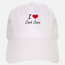 I love Cash Cows Artistic Design Baseball Baseball Cap