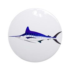 Striped Marlin v2 Round Ornament