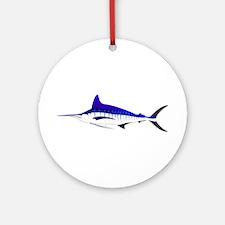 Striped Marlin v2 Round Ornament