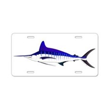 Striped Marlin v2 Aluminum License Plate