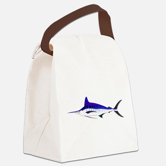 Striped Marlin v2 Canvas Lunch Bag