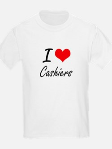 I love Cashiers Artistic Design T-Shirt