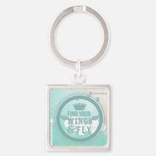 find your wings positive vibes  Square Keychain