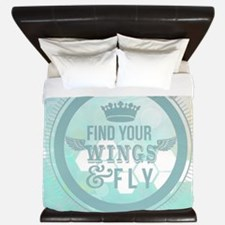 find your wings positive vibes  King Duvet