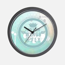 find your wings positive vibes  Wall Clock