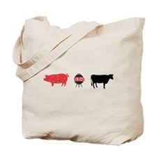 BBQ with Cow and Pig Tote Bag