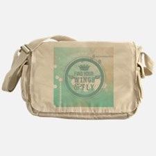 modern mint positive vibes Messenger Bag