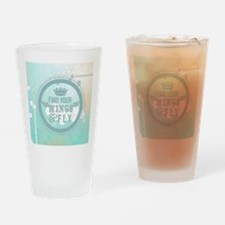 modern mint positive vibes Drinking Glass