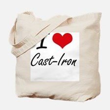I love Cast-Iron Artistic Design Tote Bag