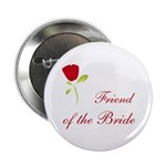 Red Bride's Friend Button