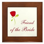 Red Bride's Friend Framed Tile