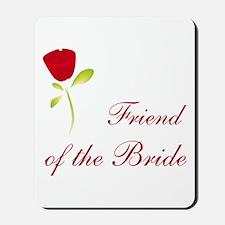 Red Bride's Friend Mousepad