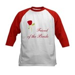 Red Bride's Friend Kids Baseball Jersey
