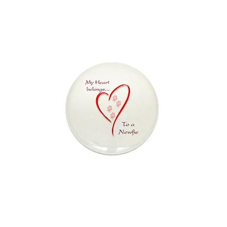 Newfie Heart Mini Button