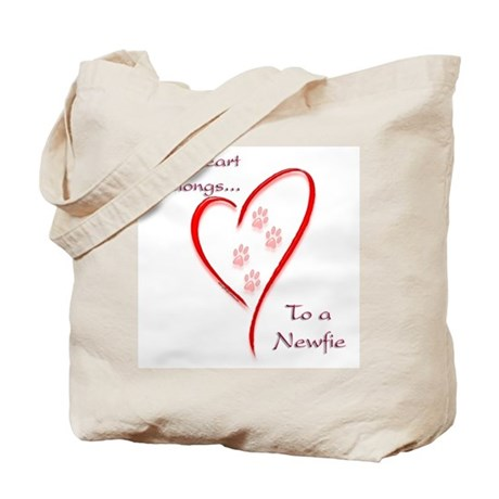 Newfie Heart Tote Bag