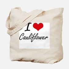 I love Cauliflower Artistic Design Tote Bag