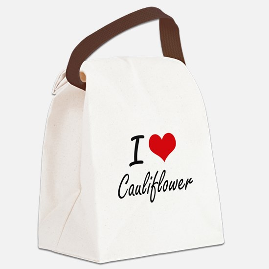 I love Cauliflower Artistic Desig Canvas Lunch Bag