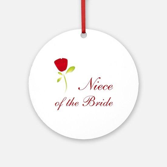 Red Bride's Niece Ornament (Round)