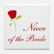Red Bride's Niece Tile Coaster