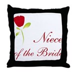 Red Bride's Niece Throw Pillow