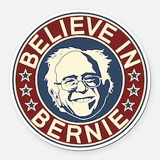 Believe in Bernie (V1) Round Car Magnet
