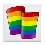 Flying Rainbow Pride Tile Coaster