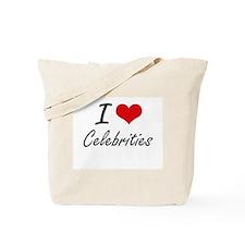 I love Celebrities Artistic Design Tote Bag