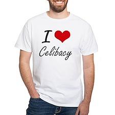 I love Celibacy Artistic Design T-Shirt