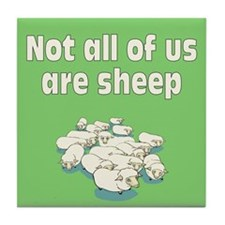 NOT ALL SHEEP Tile Coaster