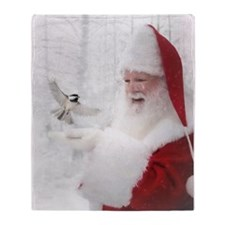 Santas Enchanted Forest Throw Blanket