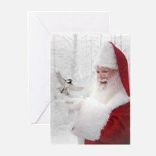 10 Santas Enchanted Forest Greeting Cards