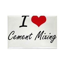I love Cement Mixing Artistic Design Magnets