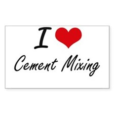 I love Cement Mixing Artistic Design Decal