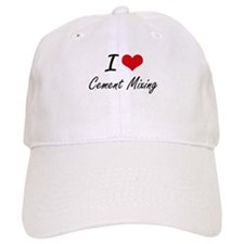 I love Cement Mixing Artistic Design Cap