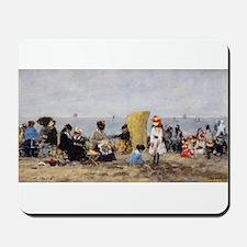 Eugene Boudin - Beach Scene, Trouville Mousepad