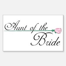 Elegant Aunt of the Bride Rectangle Decal