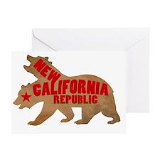Cute New california republic Greeting Card