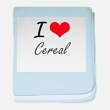 I love Cereal Artistic Design baby blanket