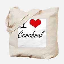 I love Cerebral Artistic Design Tote Bag