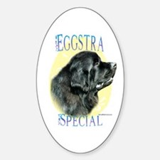 Newfie Eggstra Oval Decal
