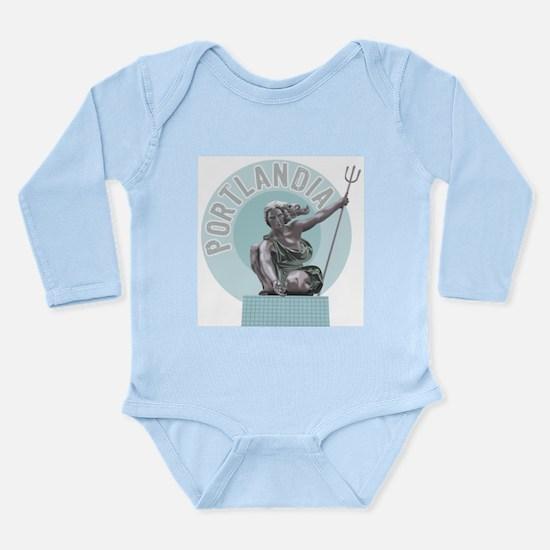 Portlandia Long Sleeve Infant Bodysuit