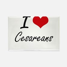 I love Cesareans Artistic Design Magnets