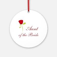 Red Bride's Aunt Ornament (Round)
