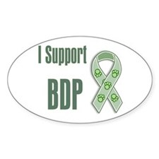 I support BDP Oval Decal