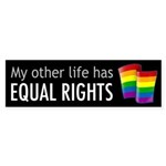 My Other Life Rainbow Bumper Sticker