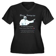 USA Pope Fra Women's Plus Size V-Neck Dark T-Shirt