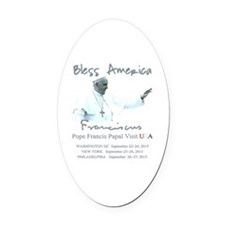 USA Pope Francis Papal Visit Oval Car Magnet