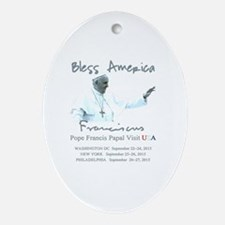 USA Pope Francis Papal Visit Oval Ornament
